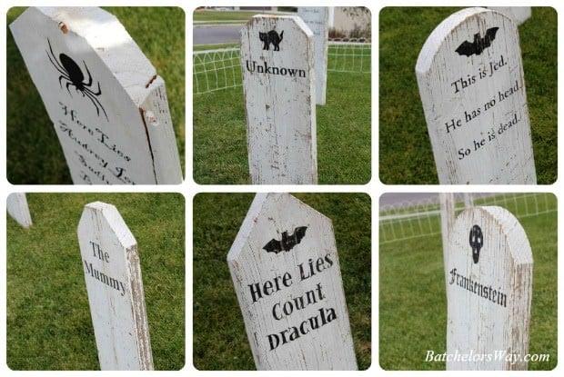 how to make a diy halloween graveyard   u2022 the budget decorator
