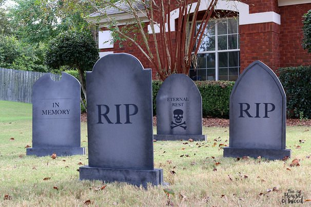 Make This Version Of A Tombstone From Foam Insulation Sheets With Tutorial Instructables