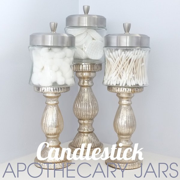 18 lovely apothecary jar ideas the budget decorator for Bathroom apothecary jar ideas