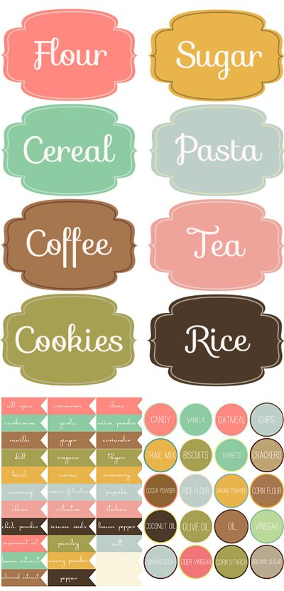 DIY Free Printable Labels & Projects • The Budget Decorator