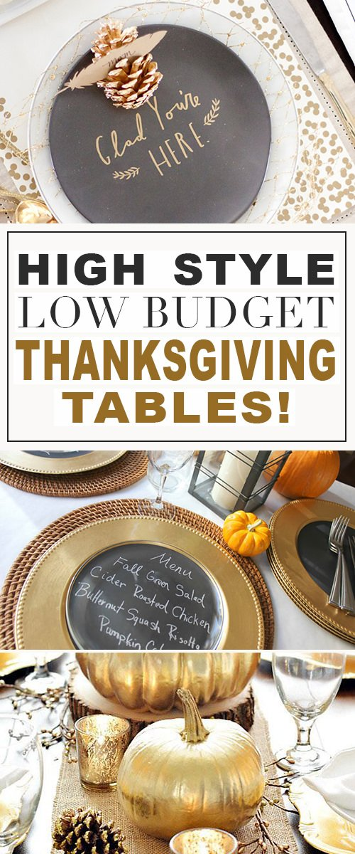 High Style, Low Budget - Thanksgiving Tables