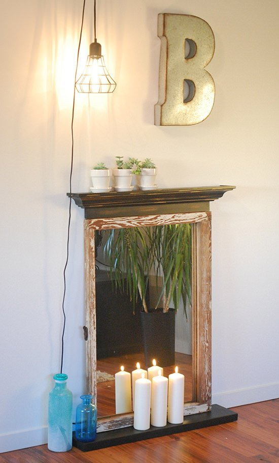 Easy DIY Faux Fireplace