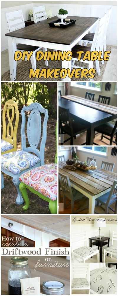 DIY Dining Table Makeovers