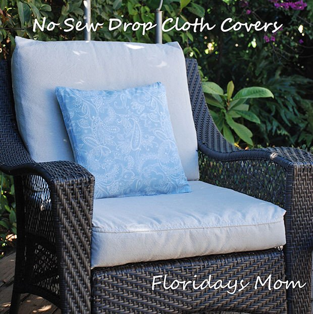 ... cushions for your outdoor furniture! DIY Drop Cloth Projects - DIY Drop Cloth Projects • The Budget Decorator