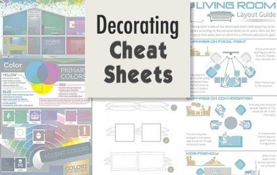Decorating Cheat Sheets - Checklists, Charts and Graphics