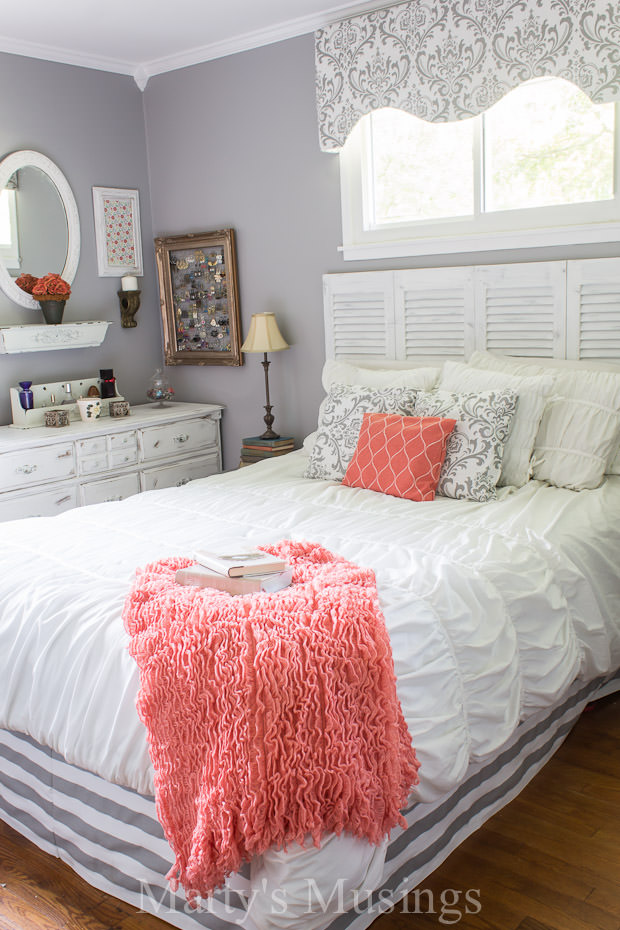 bedroom makeover. Gray and Coral Bedroom Makeover Martys Musings 2 Drool Worthy Decor  Dramatic Master Makeovers The