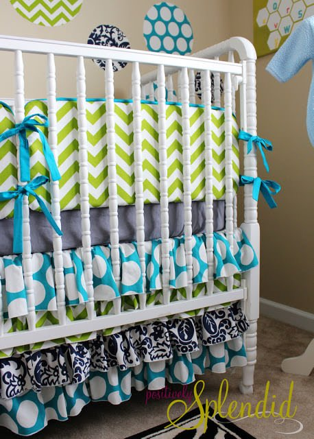 Ruffled Crib Skirt Baby Bedding 4