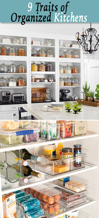 9 Traits Of An Organized Kitchen The Budget Decorator