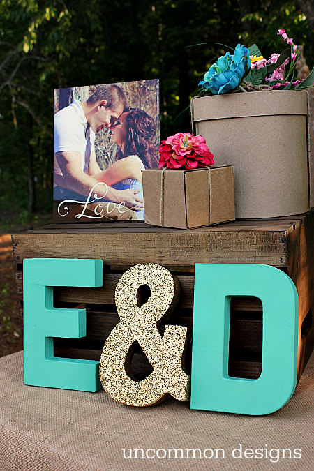 Diy budget wedding decor projects the budget decorator for How to decorate for a bridal shower at home