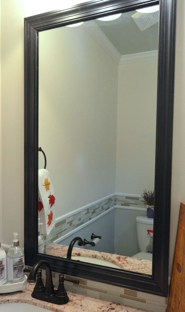 Have One Of Those Cheap Looking Bathroom Clip On Type Mirrors? Cheap Does  Not Mesh With U201cspau201du2026 Learn To Frame A Mirror In 5 Easy Steps With This  Tutorial ...