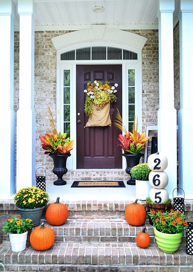 Fall front porch decorating ideas on a budget the Beautiful fall front porches