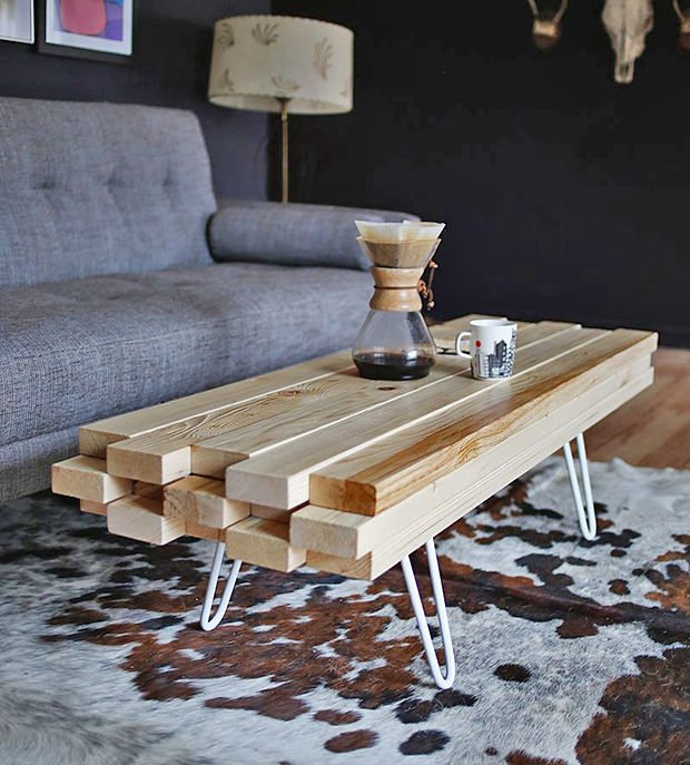 Do it yourself cool coffee tables the budget decorator Funky coffee table
