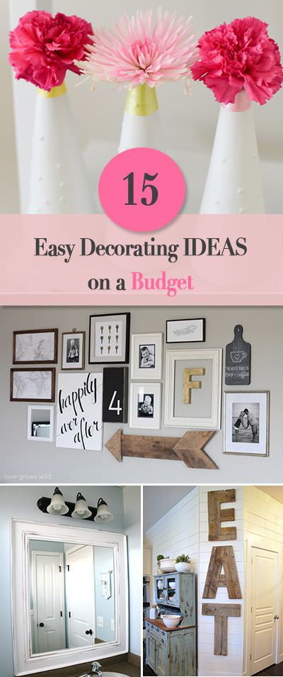 15 Easy DIY Home Decorating Ideas on a Budget • The Budget ...