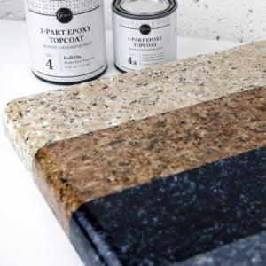 DIY Faux Granite Countertops in Just a Few Easy Steps
