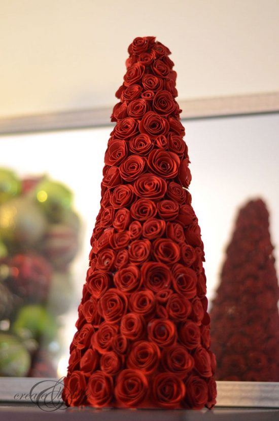 DIY Christmas Cone Trees- Roses Tree