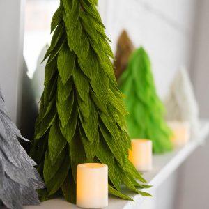 DIY Christmas Cone Trees- Paper Christmas Tree