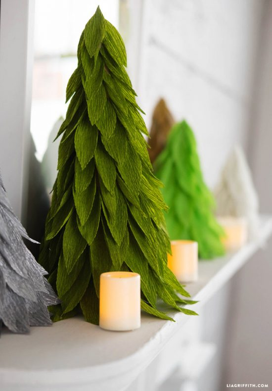 DIY Christmas Cone Trees- Paper Christmas Tree