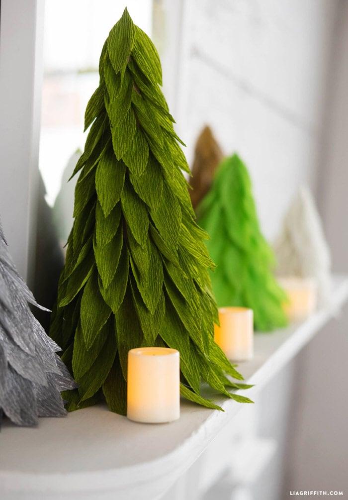 DIY Christmas Cone Trees • The Budget Decorator