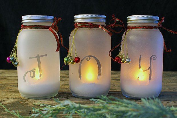 Diy Mason Jar Holiday Luminaria The Budget Decorator