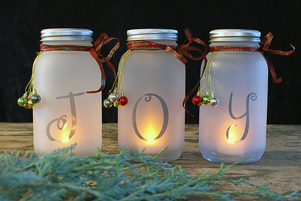 diy mason jar craft ideas diy jar luminaria the budget decorator 6465