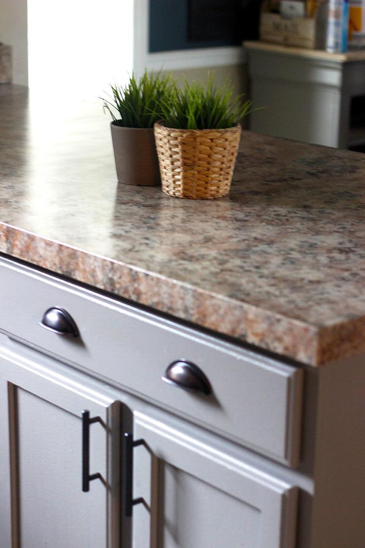 Diy Faux Granite Countertops In Just A
