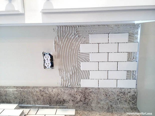 How to install a backsplash the budget decorator How to put tile on wall in the kitchen