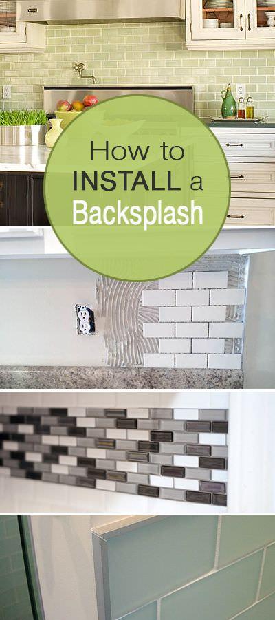 How to install a backsplash