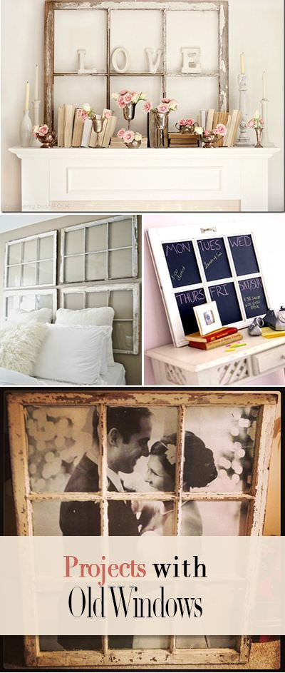 13 creative diy projects with old windows the budget decorator. Black Bedroom Furniture Sets. Home Design Ideas