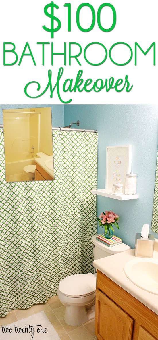 Diy budget bathroom makeovers before and after the for Diy bathroom ideas on a budget