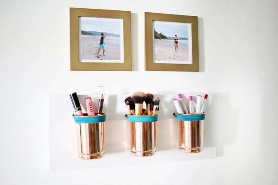 DIY Budget Beauty Storage Ideas