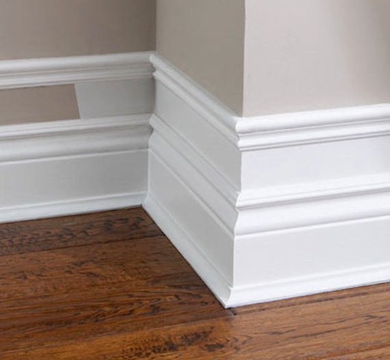 Diy baseboards molding and trim the budget decorator for Mid century modern baseboard