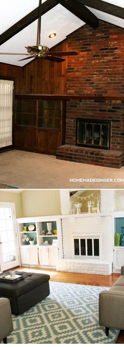 Painted Paneled Room: 5 Amazing DIY Makeovers • The