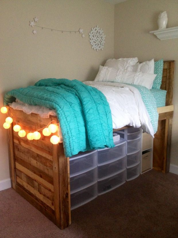 Diy under bed storage the budget decorator for How to raise your bed frame