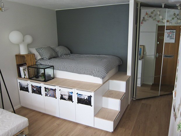 diy under bed storage the budget decorator. Black Bedroom Furniture Sets. Home Design Ideas