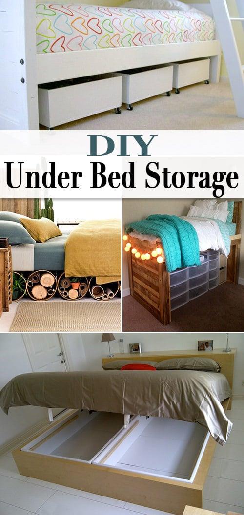 Diy under bed storage the budget decorator - Diy under bed storage ideas ...