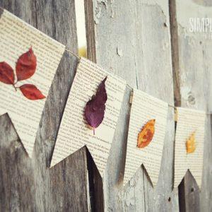 Fall Crafts : DIY Fall Leaf Decor- Fall Leaf Banner