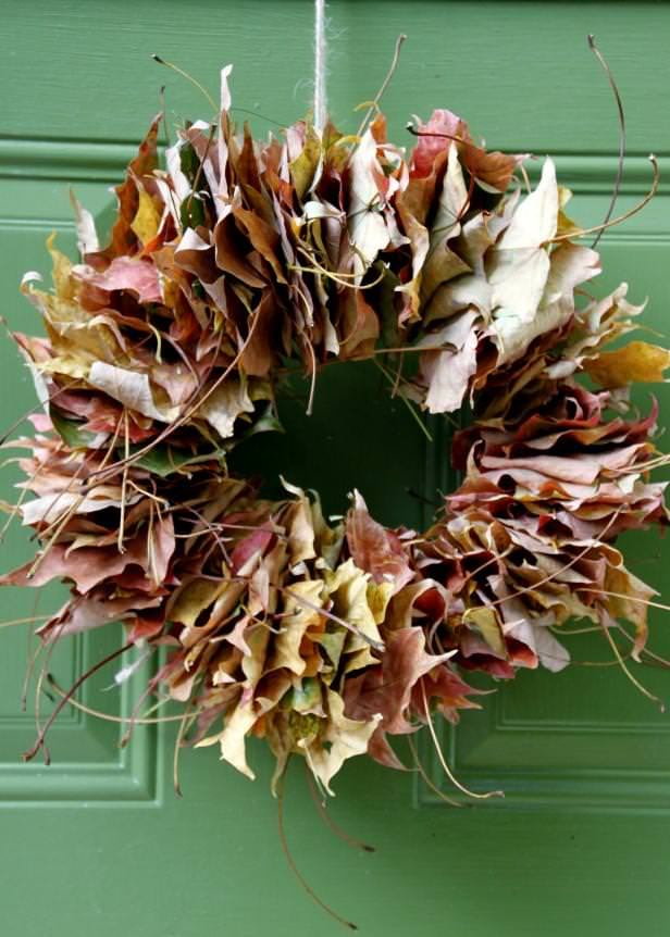 DIY fall leaf decor-4