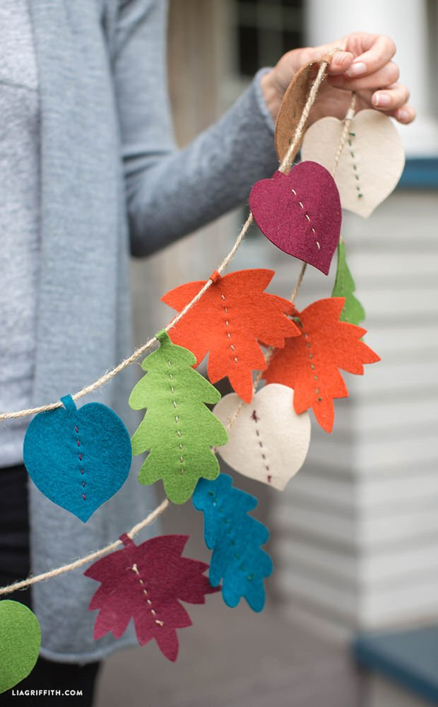 DIY fall leaf decor-6