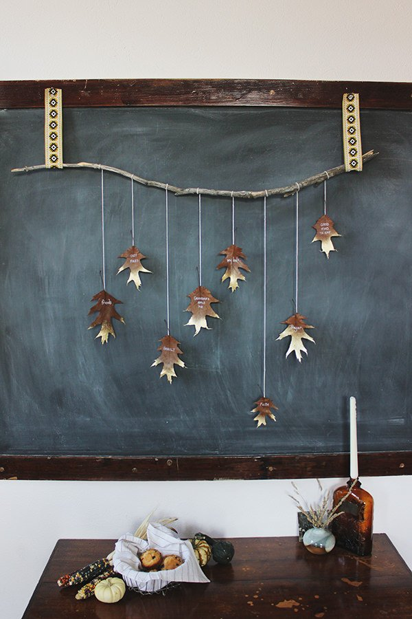DIY fall leaf decor-8