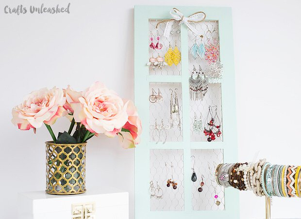DIY jewelry organizer-1