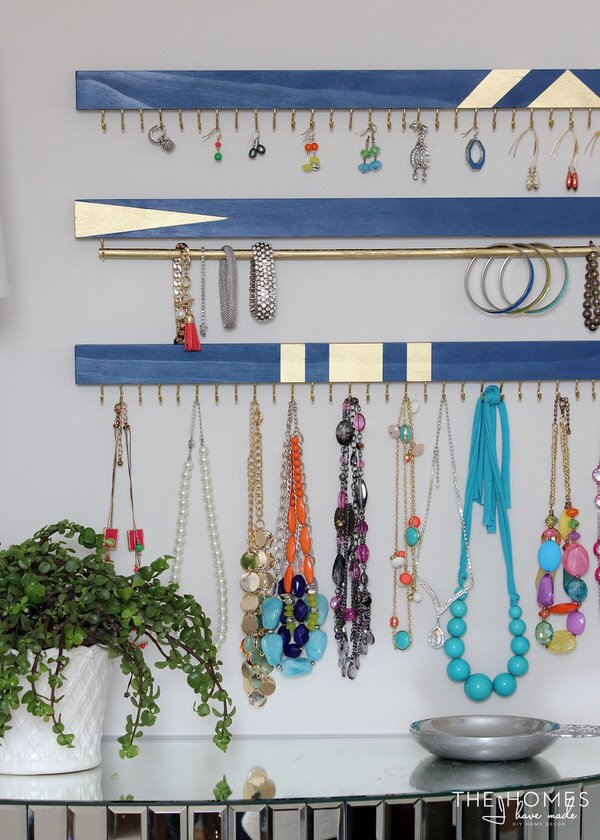 diy necklace holder diy jewelry organizer ideas the budget decorator 31065