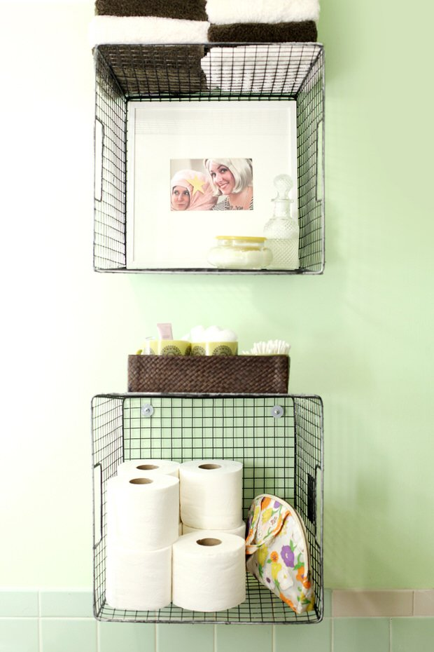 DIY Bathroom Decor & Storage • The Budget Decorator
