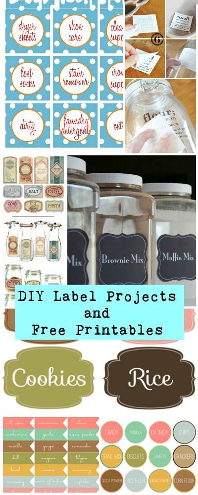photo regarding Free Printable Organizing Labels named Do it yourself No cost Printable Labels Jobs The Spending budget Decorator