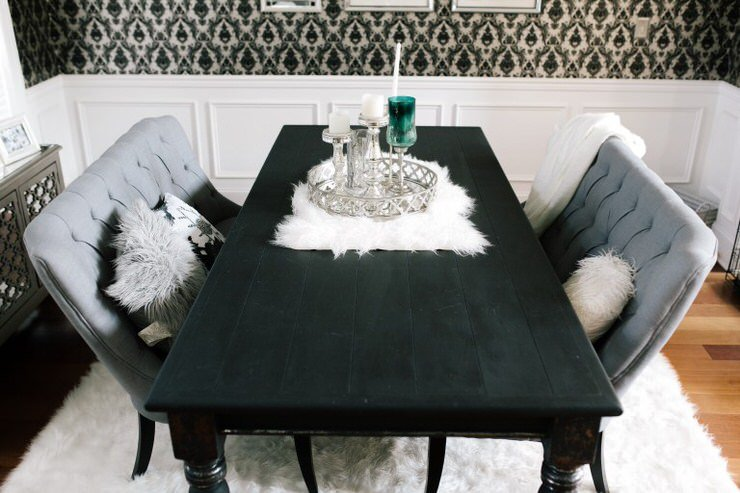 Miraculous Diy Dining Table Makeovers Before Afters The Budget Download Free Architecture Designs Grimeyleaguecom