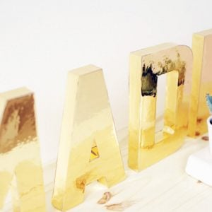 Glamorous Gold DIY Decor Projects