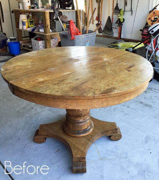 Awesome Diy Dining Table Makeovers Before Afters The Budget Download Free Architecture Designs Grimeyleaguecom