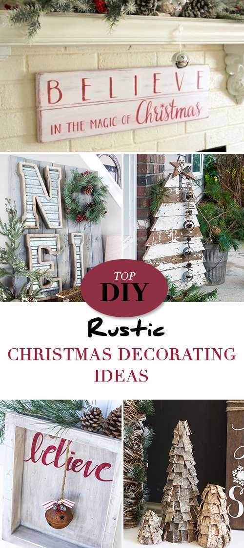 painted wood signs are always a rustic do and nancy at artsy chicks rule has a great tutorial for her diy believe christmas sign - Rustic Christmas Decorating Ideas