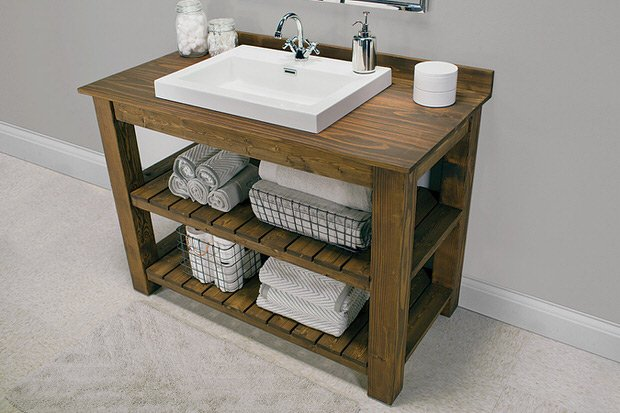 Image Result For Open Shelf Bathroom Vanity Plans