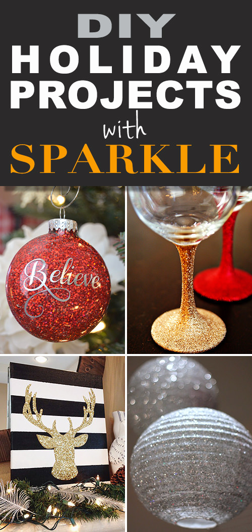 All that glitters - DIY holiday projects with sparkle!