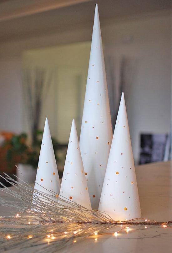Modern Christmas Cone Trees